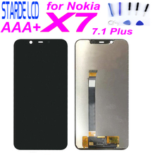 100% New AAA STARDE Replacement LCD for Nokia X7 7.1 Plus TA-1131 LCD Display Touch Screen Digitizer Sense Assembly 6.18 Black frsky taranis x9d x9d plus x7 radio replacement switch