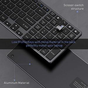 Image 3 - Jelly Comb Bluetooth клавиатура для iPad, планшета, ноутбука, совместима с IOS, Windows, металлическая перезаряжаемая клавиатура AZERT, Франция/Россия