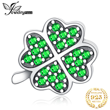 JewelryPalace Lucky Clover 925 Sterling Silver Beads Charms Original For Bracelet original Jewelry Making