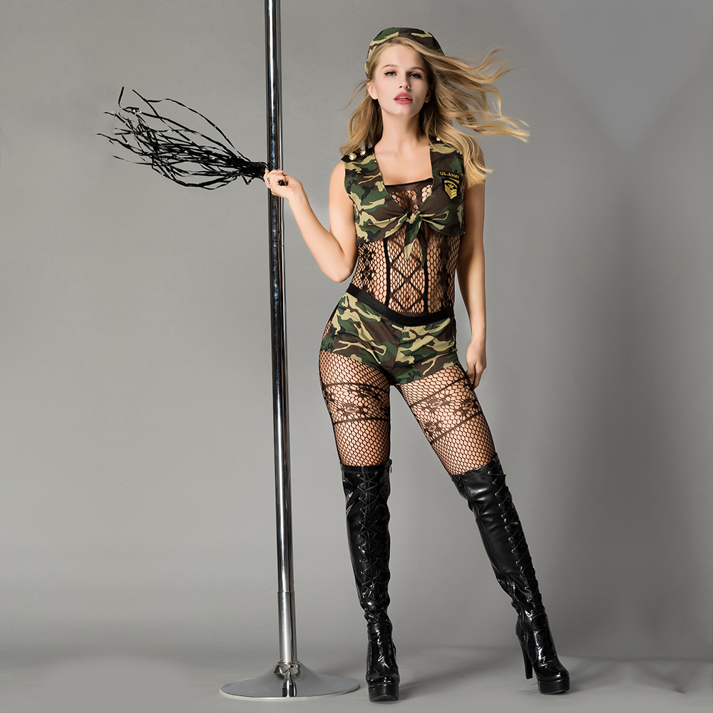 Green <font><b>Sexy</b></font> Female Cop army Officer Uniform Policewomen <font><b>Costume</b></font> Adult Women Police Cosplay <font><b>Fancy</b></font> <font><b>Dress</b></font> image