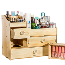 HECARE Organizer for Cosmetics Wooden DIY Jewelry Organizer with Drawers for Storage Eco-friendly Home Storage Box Desktop 2019 sosw multifunctional 9 components metal table statinery storage box desktop organizer with drawers sky blue