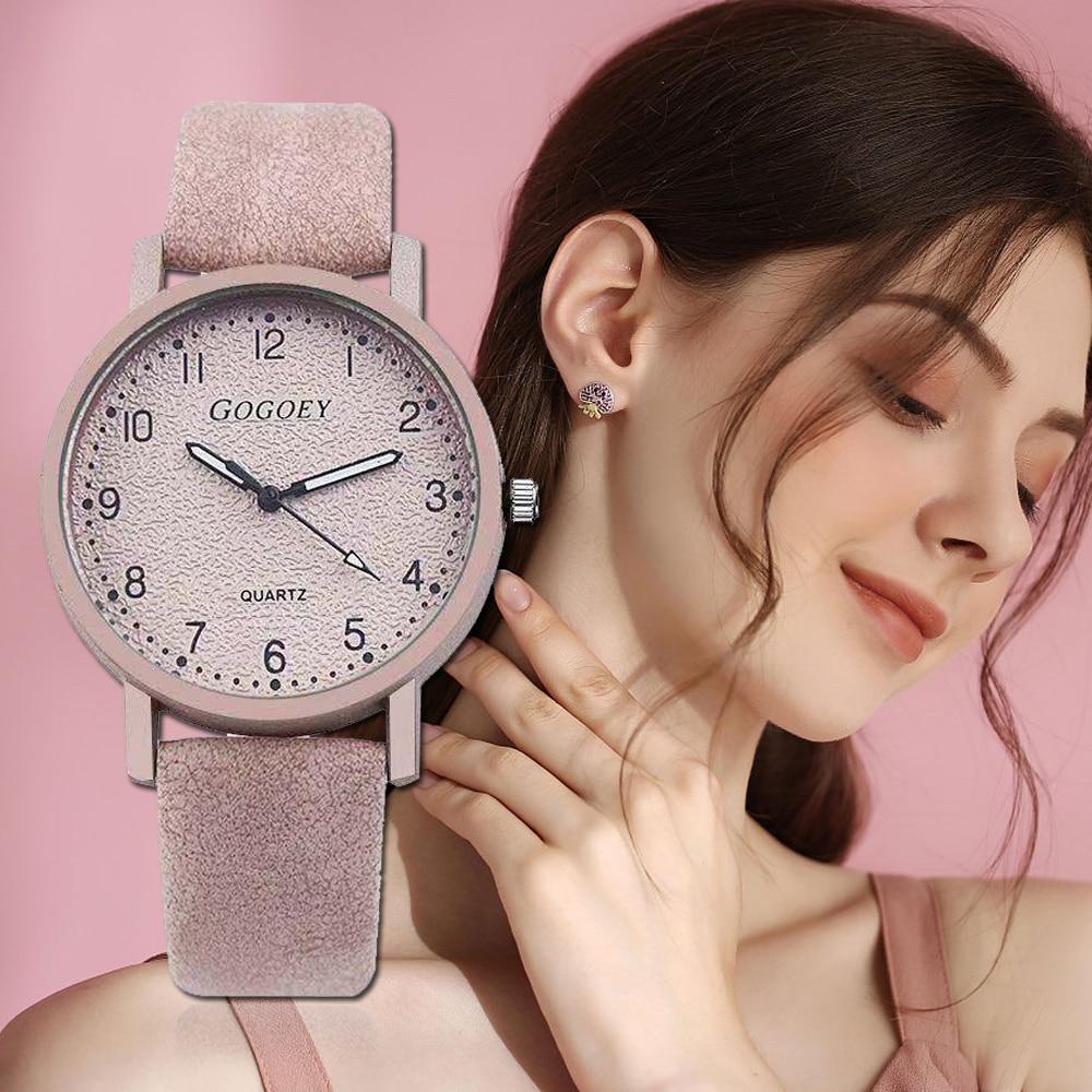Relojes de marca Gogoey para Mujer, reloj de pulsera de cuero de moda 2020, relojes de Mujer, reloj de Mujer Bayan Kol Saati Montre femenino ¡Nuevo estilo 2018! Reloj de pulsera EUTOUR para hombre con bola magnética, relojes de pulsera Innovate, reloj de cuarzo con correa de nailon a la moda erkek kol saati