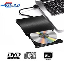 Usb 3.0 DVD-RW unidade óptica externa magro leitor de disco cd rom dvd rw gravador cd escritor para desktop computador portátil tablet dvd player