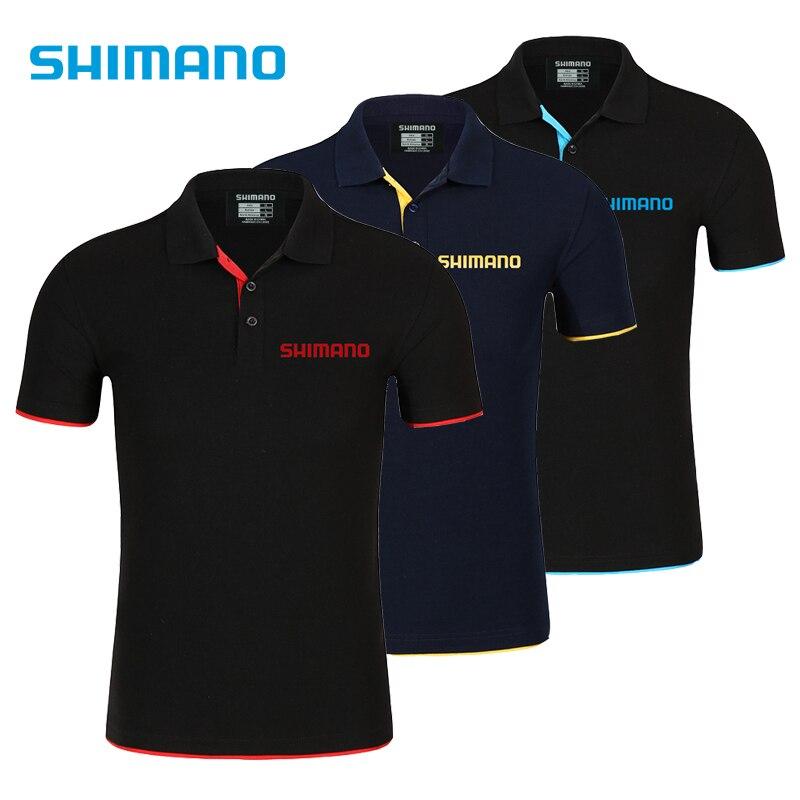 Shimanos vêtements de pêche T-shirt hommes respirant séchage rapide vêtements de pêche vêtements de plein air à manches courtes Sport Polo T-shirt