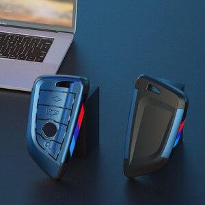 Image 4 - Placcatura Chiave Remote Controller Supporto del Sacchetto fit bmw lama KeyChain di chiave Dellautomobile di Caso Della Copertura per BMW X1 X5 X6 F15 f16 F48 BMW 1 / 2 Serie