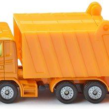 Mllwagen, Metall/Kunststoff, Orange, Spielzeugauto fr Kinder, Kippbarer Mllbehlter