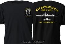 Novo uss nathan james Ddg-151 eua navy seal o último navio série tv camiseta S-3Xl tops camisa curta hip hop