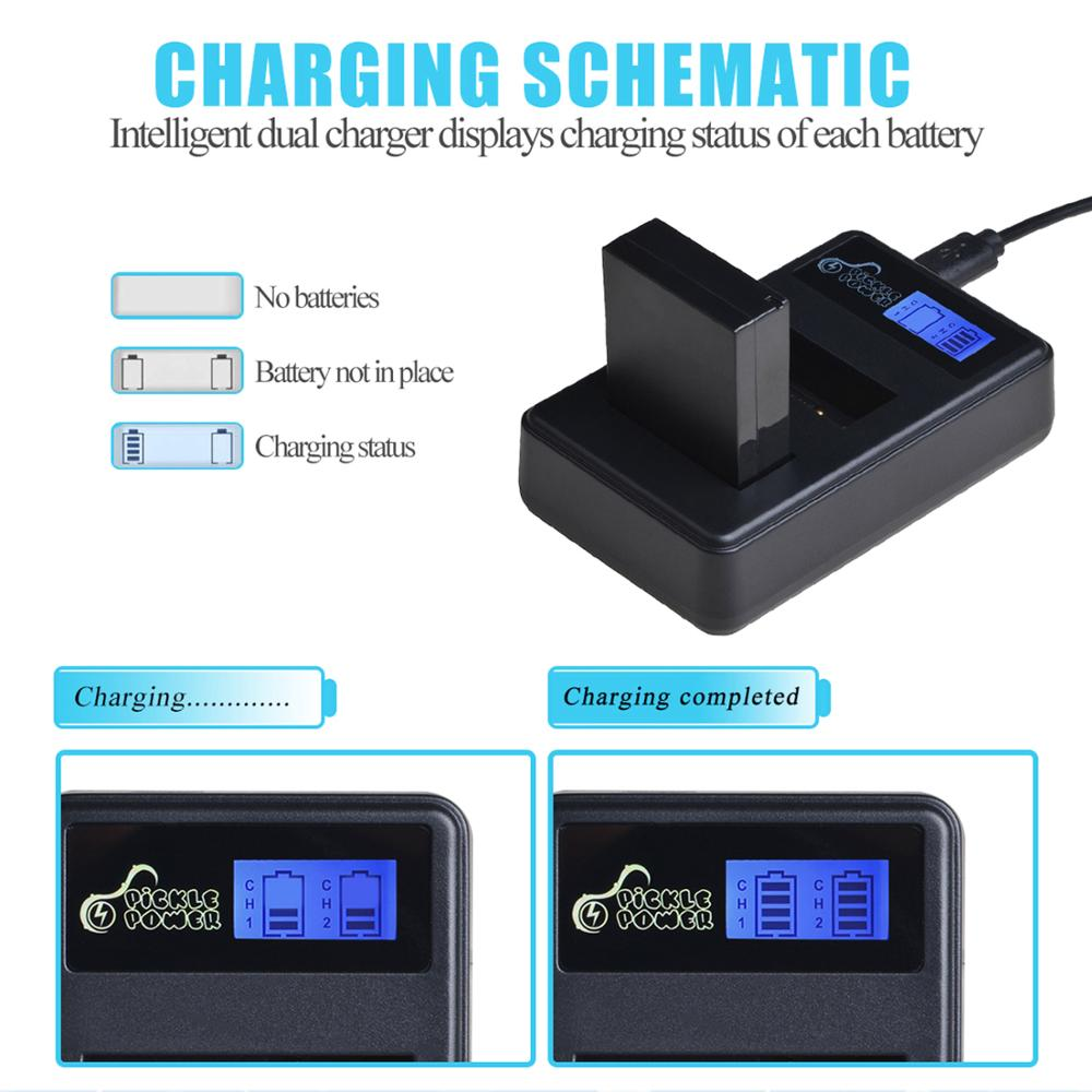 LP-E12 LP E12 LPE12 Battery & LCD USB Dual Charger for Canon EOS M EOS M10 M50 M100 100D Kiss X7 Rebel SL1 Camera 4
