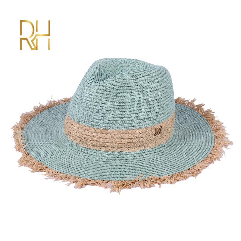 Chapéu de palha do panamá da palha da praia por atacado rh chapéu de palha da praia do jazz