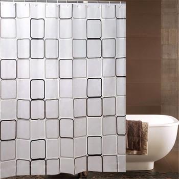180x200cm wodoodporna PEVA zasłona prysznicowa z hakami odporne na pleśń z tworzywa sztucznego zasłona wanny trwałe afryki zasłona prysznicowa tanie i dobre opinie Nowoczesne PLANT Ekologiczne shower curtain with hooks Square Plaid Shower Curtain Bathroom Decoration Bath Acce