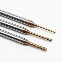 0.6mm 0.7mm 1mm 1.5mm 2mm 3mm 0.8mm 4mm hrc60 2/4 flautas cnc carboneto longo pescoço fresas de extremidade plana tungstênio fresas de extremidade de aço