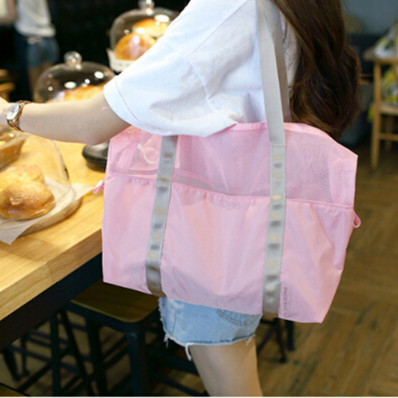 4 Colors Women Waterproof Outdoor Multifunctional Sport Swimming Beach Storage Shoulder Bag Sport Accessories