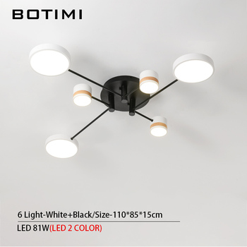 BOTIMI Home Decor LED Ceiling Lights For Living Room Round Metal Ceiling Lamps Surface Mounted Dining Lustres Bedroom luminaires 16