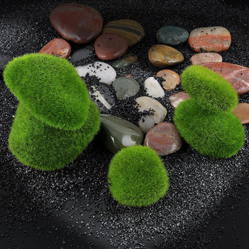 Micro Landscape Fairy Garden Miniature Ornament Artificial Fake Moss Lawn Mossy Stone Model Toy DIY Accessories Decoration image