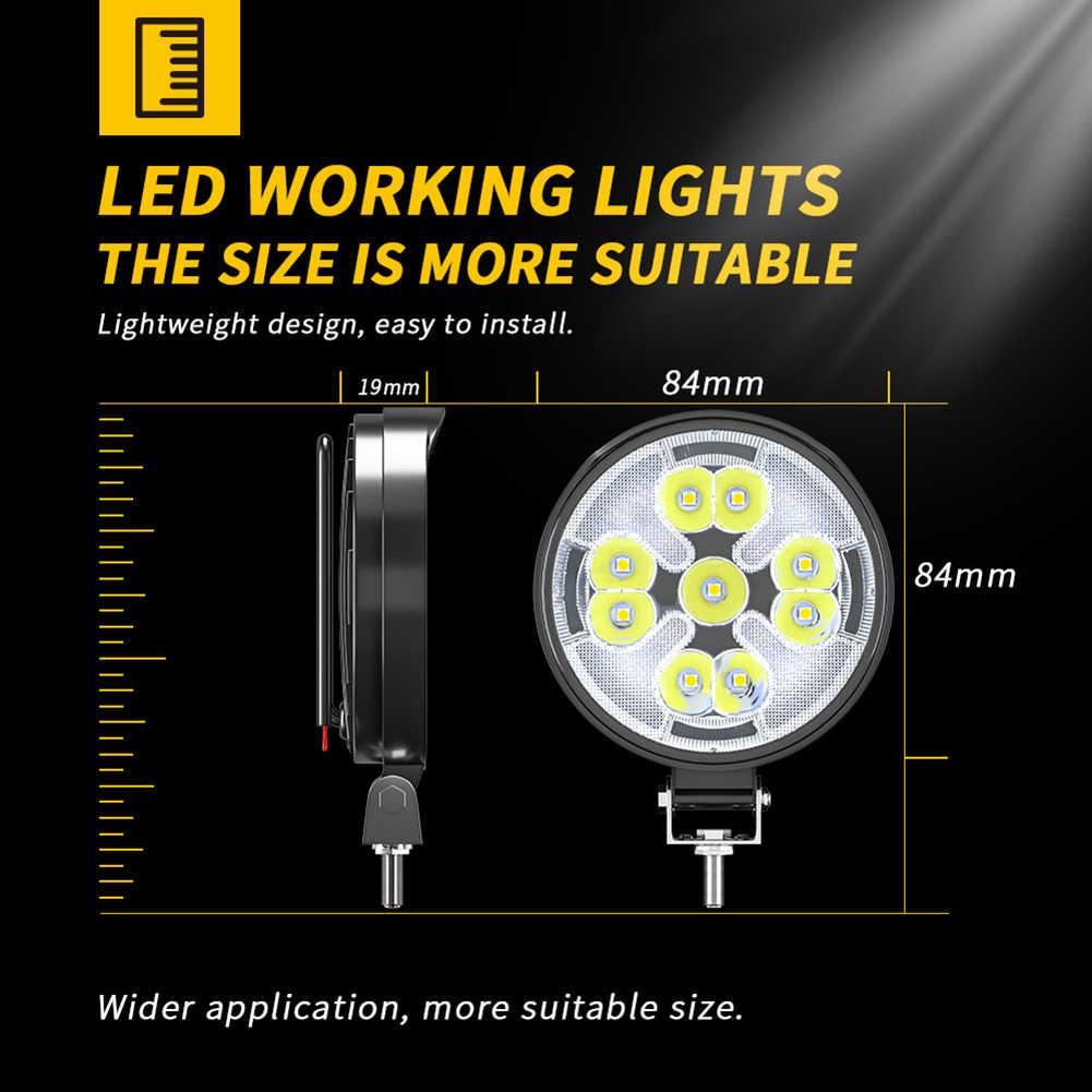 48W Đèn LED Làm Đèn Mini Tròn LED Siêu Sáng Ánh Sáng Ban Ngày 23LED Trắng  Ánh Sáng Vàng Cho Ô Tô Xe Máy Xe Tải xe Accessorie Light Bar/Work Light