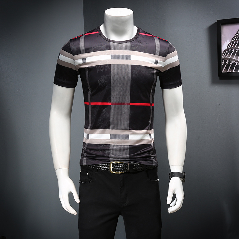 2019 Men's Shirt Summer Short Sleeve Fashion Round-collar T-shirt Printed Breathable Men's T-shirt