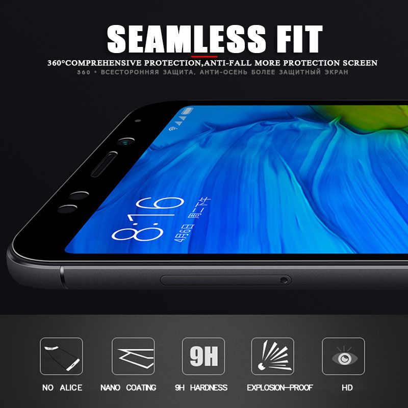 2 ב 1 מזג זכוכית עבור Xiaomi Redmi הערה 5 6 7 8 פרו 8T 9D מלא מסך מגן עבור Redmi 6 6A 7 7A 8 8A מגן סרט