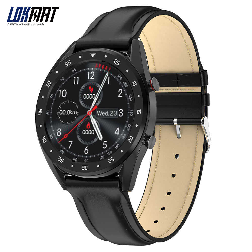 "LOKMAT Bluetooth חכם שעון גברים מלא עגול IPS מגע מסך PPG אק""ג IP68 עמיד למים גשש כושר SmartWatch עבור אנדרואיד IOS"