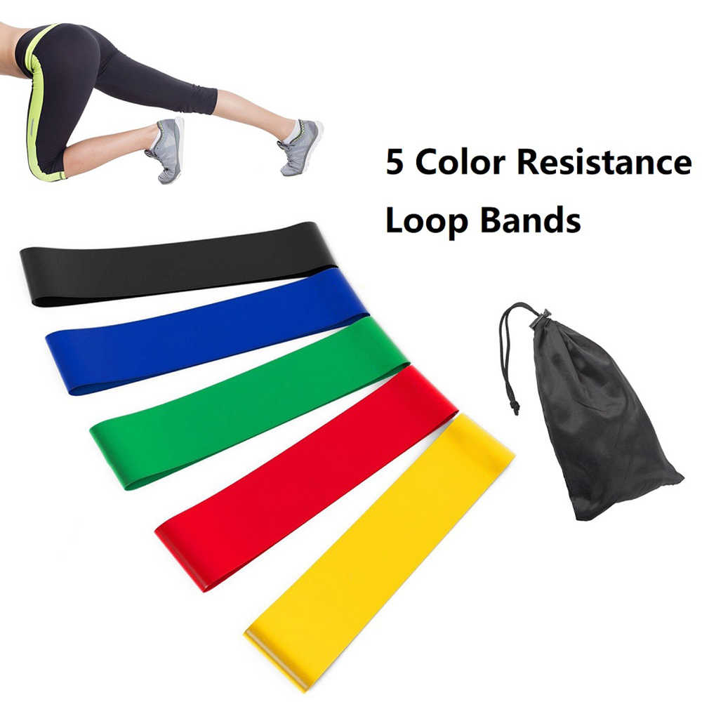 5PCS Set Widerstand Bands Elastische Band Für Fitness Gummi Sport Yoga Übung Home Gym Gummi Workout Frauen