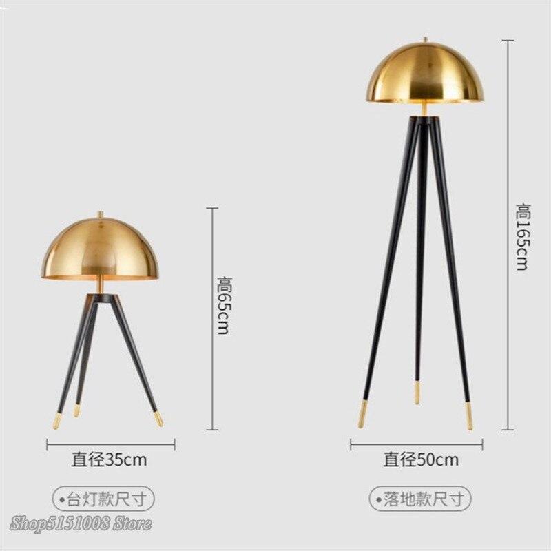 Moderne Drei Stativ Gold Tisch Lampe Italienischen Designer Lichter Kreative Büro Led Boden Lampe Schlafzimmer Nacht Home Decor Leuchte - 5