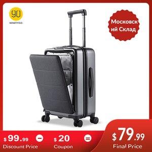 NINETYGO 90FUN Carry On Luggage with Spinner Wheels 20 Inch Hardside Hardshell TSA Compliant Suitcase Front Pocket Lock Cover(China)