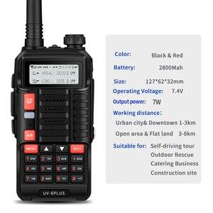 Image 4 - Baofeng UV 6 PLUS longue portée talkie walkie Rechargeable 7W puissance double bande jambon radio émetteur récepteur uv 5r cb radio pour la chasse