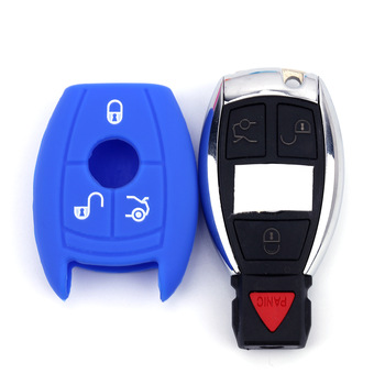 Car Key Case Cover For Mercedes Benz W210 W211 W124 W203 W204 W205 W212 W202 W176 CLK C180 E200 AMG A C E S Class Keychain image