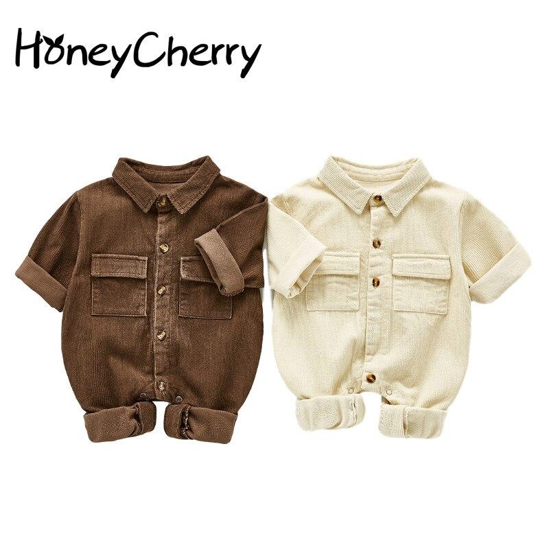 2020 outono menino tesouro macacão de bebê macacão casual de uma peça terno de veludo macacão de bebê menino roupas de inverno