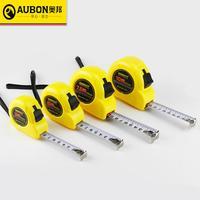Aubon 2m/ 3m/ 5m/ 7.5m/ 10m fita de medição da roleta fita de aço métrica flexível regra tapeline ferramentas de medição retráteis