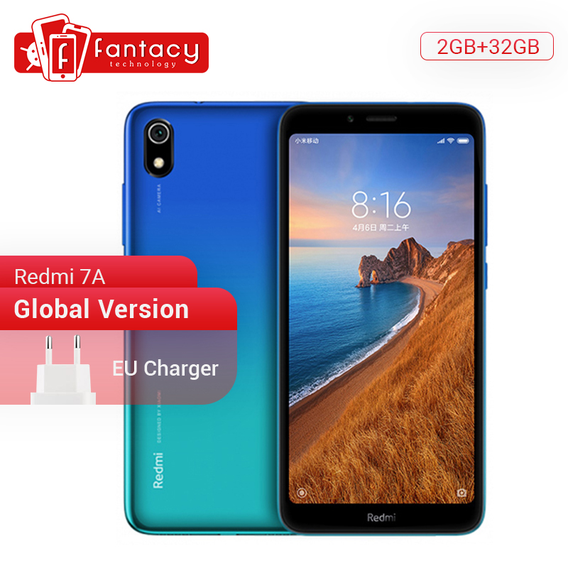 "In Stock Global Version Xiaomi Redmi 7A 7 A 2GB 32GB 5.45"" Snapdargon 439 Octa core Mobile Phone 4000mAh 12MP Camera Smartphone"