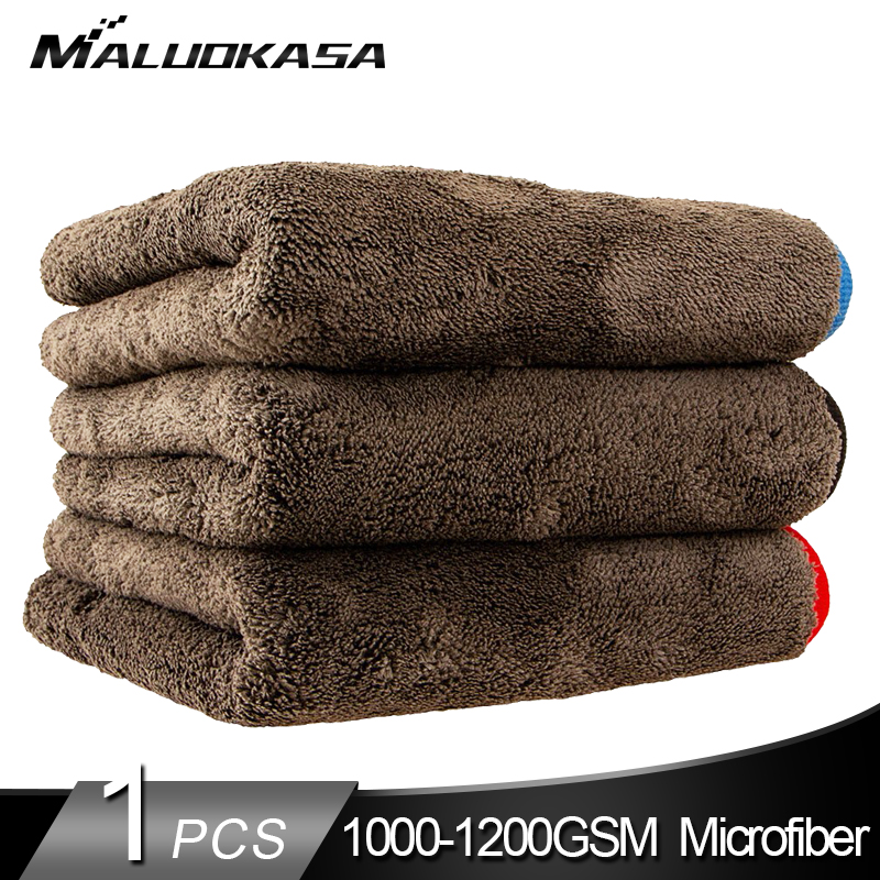 Microfiber-Towel Cleaning-Rag-Tool Wash-Cloths Car Detailing Polishing-Drying Plush 1200GSM