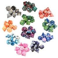 7 قطعة مجموعة نرد trgp لعبة polyhedron D4 D20 متعددة الأوجه جديد النرد برج الاكريليك دادوس rpg لونين متعدد الوجه dnd النرد 30A19|نرد|   -