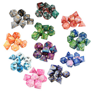 7Pcs dice set trgp game polyhedron D4-D20 multi-faceted new dice tower acrylic dados rpg two-color multi-faced dnd dice 30A19(China)