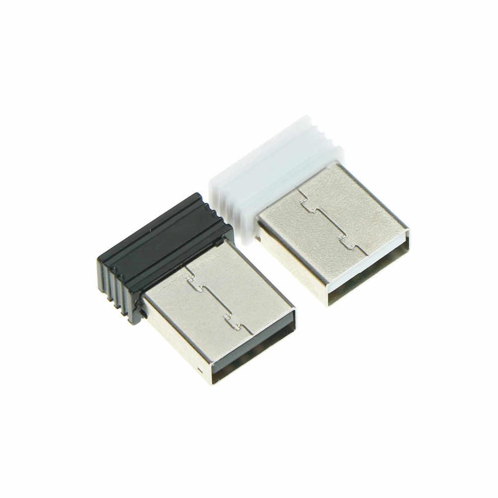 Nirkabel Dongle Receiver Unifying 2.4G Wireless Mouse dan Keyboard Adaptor Dongle Nirkabel USB Receiver Untuk Laptop PC 2*1.4 Cm