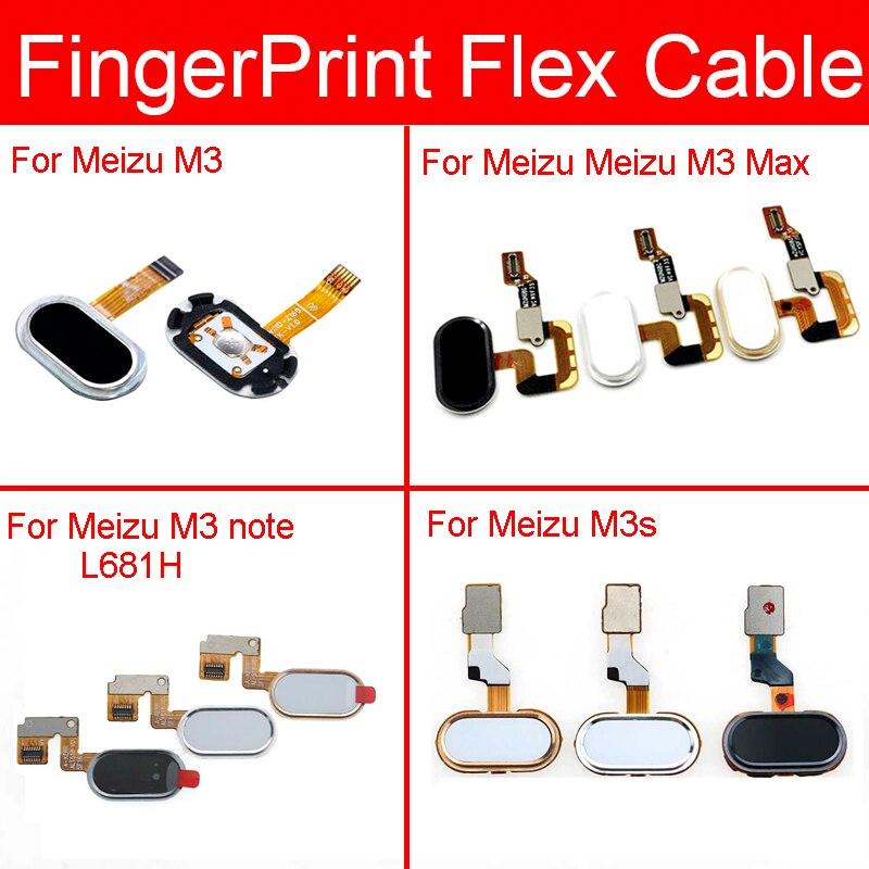 Home Button For Meizu M3 M3s Max Note Fingerprint Sensor Flex Cable Menu Return Key Touch Id