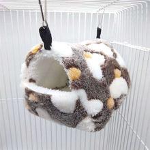 Pequeno animal de estimação gaiolas primavera inverno hamster cobaia esquilo ninho quente macio confortável dormir rede tenda ninho