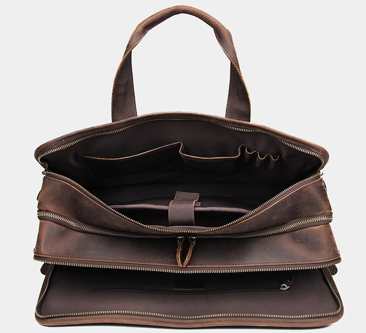 H2b7ce89425634f68b30351a0ac8253caz MAHEU Vintage Leather Mens Briefcase With Pockets Cowhide Bag On Business Suitcase Crazy Horse Leather Laptop Bags 2019 Design