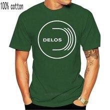 Westworld Delos a. Ş. Logo erkek tişört T Shirt indirim % 100% pamuk T Shirt erkek