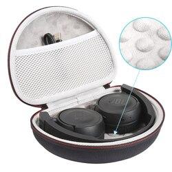 Yeni sert çanta JBL T450BT/T500BT kablosuz kulaklıklar kutusu taşıma çantası kutusu taşınabilir depolama kapağı (sadece))