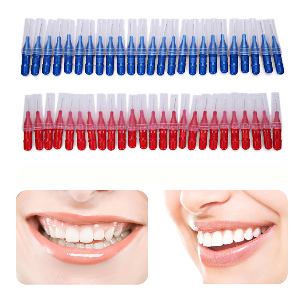 2.5MM 50pcs Tooth Floss Oral Hygiene Dental Floss Soft Plastic Interdental Brush Toothpick Healthy For Teeth Cleaning Oral Care
