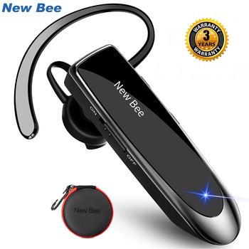 Nowy zestaw słuchawkowy Bluetooth Bee Bluetooth 5 0 słuchawka zestaw głośnomówiący słuchawki Mini bezprzewodowe słuchawki douszne dla iPhone xiaomi tanie i dobre opinie New bee Zaczepiane na uchu Dynamiczny CN (pochodzenie) wireless 120±3dBdB 0Nonem do telefonu komórkowego Do gier wideo
