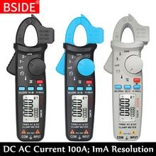 True RMS Mini Digital Clamp Meter BSIDE ACM91 DC AC Current 100A 1mA Accuracy Car Repair Ammeter Voltmeter NCV Tester Multimeter