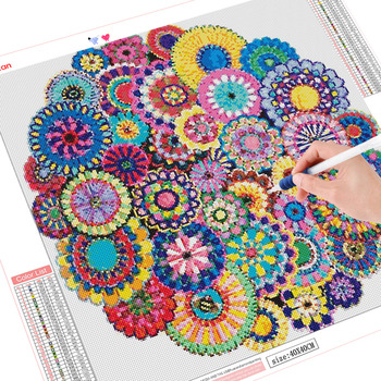 HUACAN Flowers Diamond Painting Cross Stitch Full Drill Square Diamond Art Embroidery Home