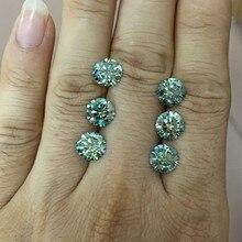 Diamant Moissanite en vrac cultivé en laboratoire 5.5MM 0.54 Carat excellente coupe ronde VVS1 couleur bleu clair vert Moissanite pierre