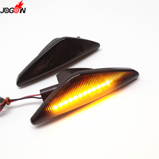 2pc LED Sequential Turn Signal Fender Marker Lights For BMW X3 F25 X5 E70 X6 E71 E72 2008-2014 2