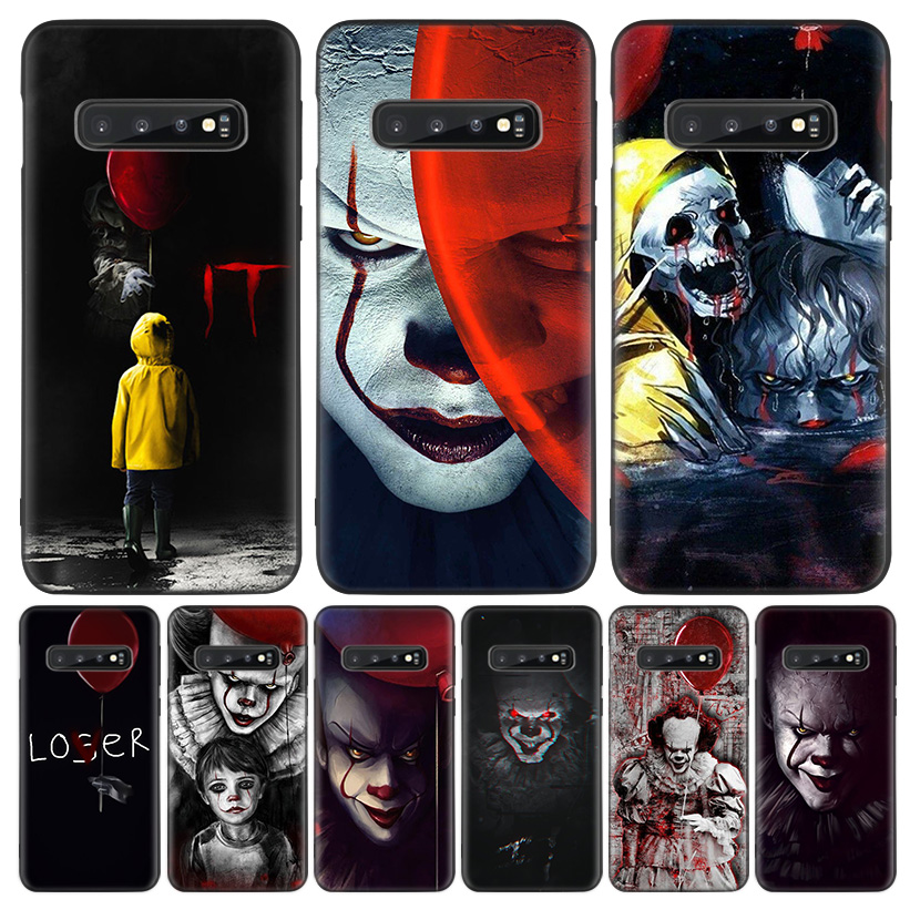 Pennywise Clown Horror Black Cover Phone Case for <font><b>Samsung</b></font> Galaxy S20 Ultra <font><b>S10E</b></font> Note 10 9 8 S9 S8 J4 J6 + Plus S7 S6 <font><b>Capa</b></font> Coque image