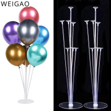 WEIGAO 2Set Balloon Holder Stand Column Wedding Decoration Balloons Stick Baby Shower Party Baloon Birthday Party Decor Globos