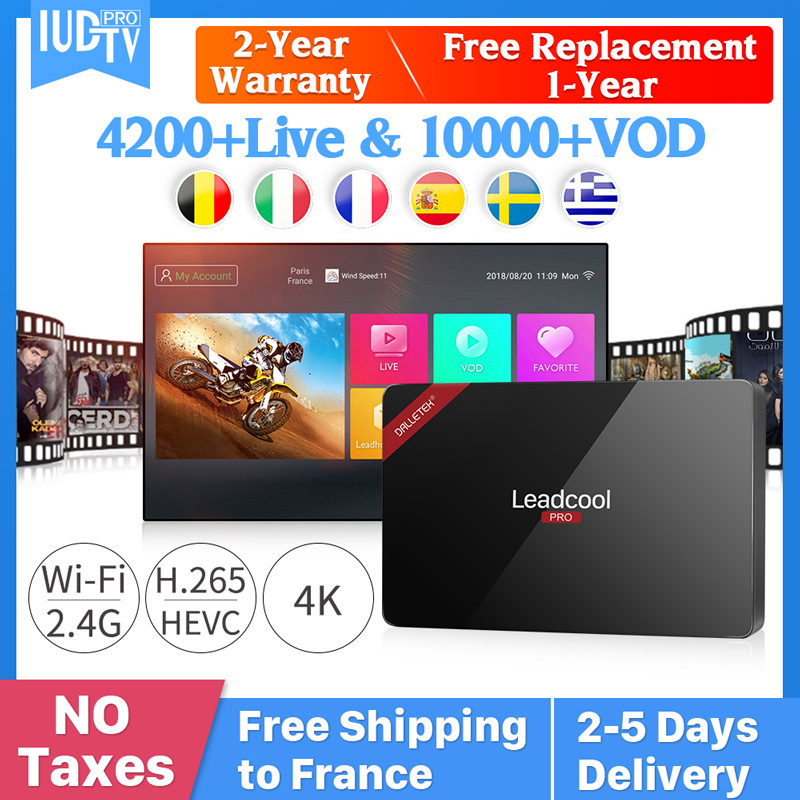 Leadcool Pro Android 8.1 TV Box Iptv France RK3229 1GB 8GB IUDPRO Iptv Subscription Greece Arabic Spain IP TV Netherland Sweden-in Set-top Boxes from Consumer Electronics