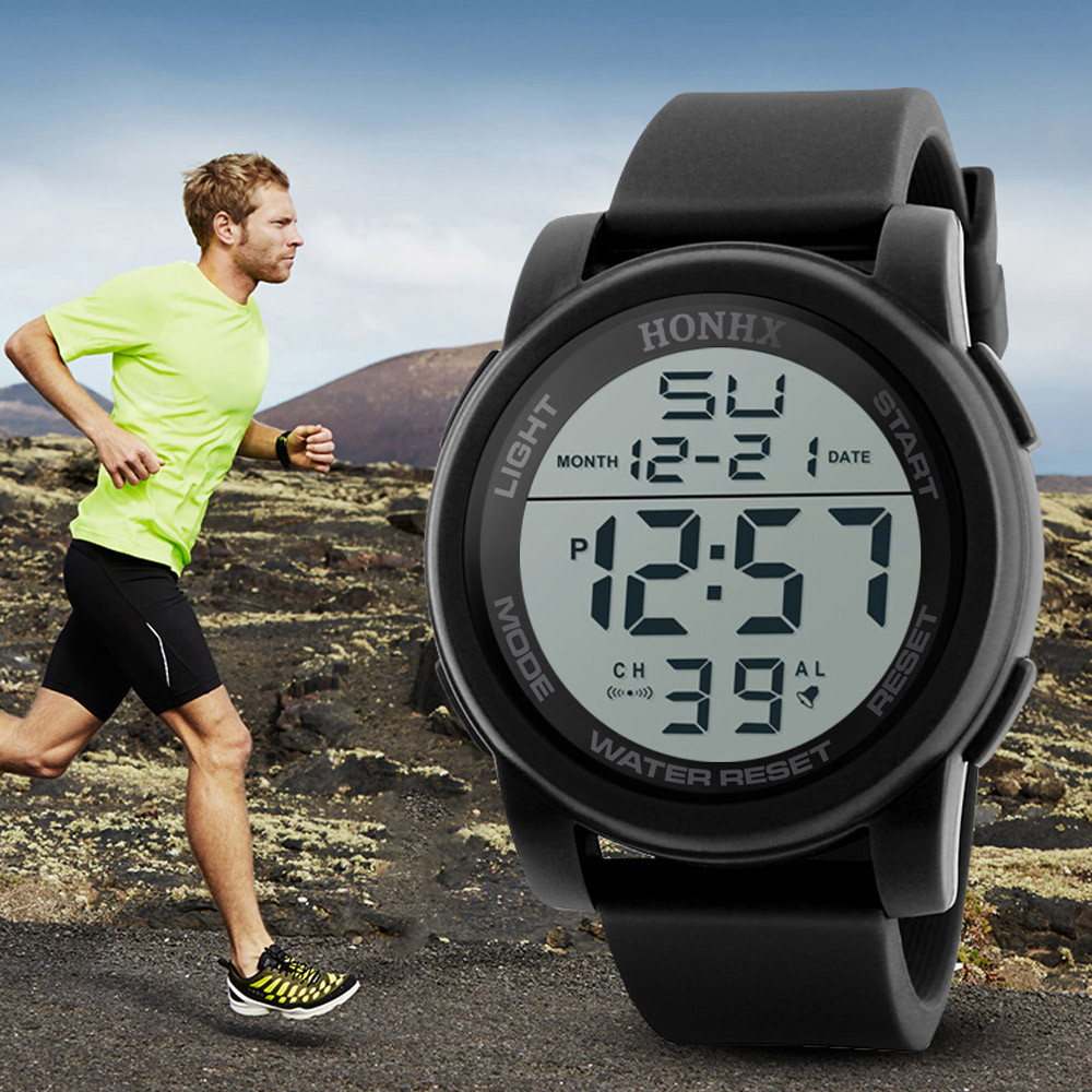 HONHX Men's Watches Analog Digital Military Sport LED Waterproof Wrist Watch Outdoor Electronic Watch Relogio Masculino