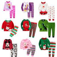 2019 kinder pyjamas Kinder kleidung sets Baby mädchen jungen kleidung pyjamas Baby jungen mädchen cartoon langarm Tops + Hosen 2 stück